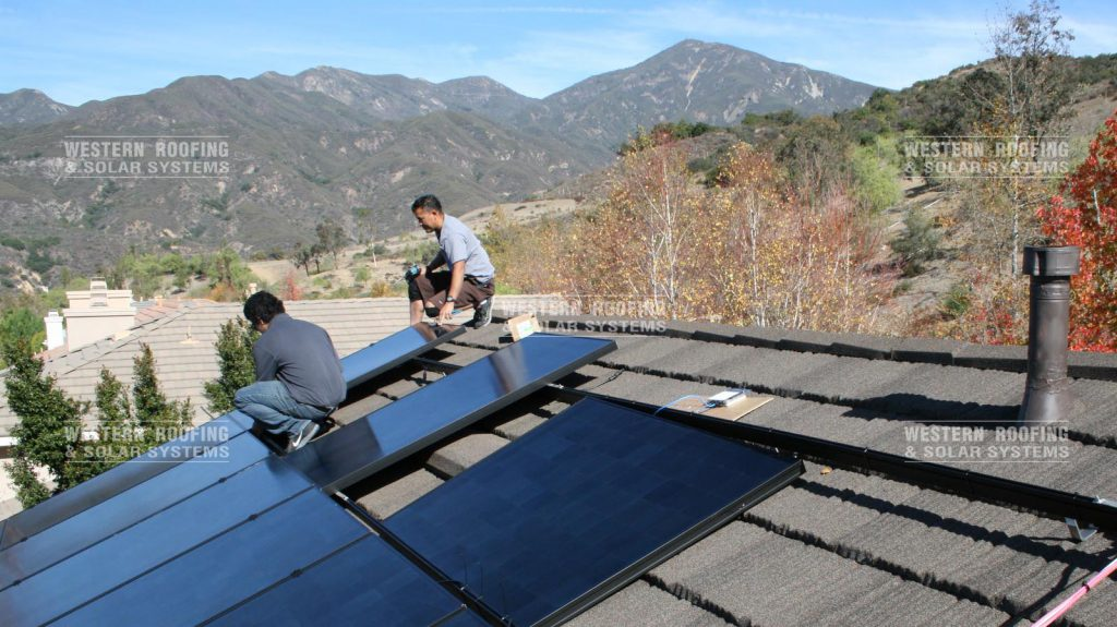 CA replacement and solar roof system installation