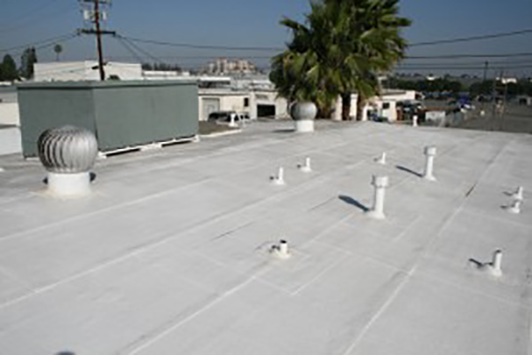 California flat roof white coating