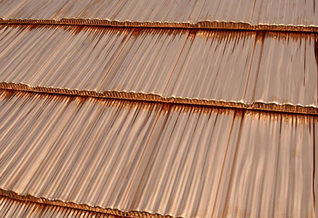 California shake copper metal roof long lasting
