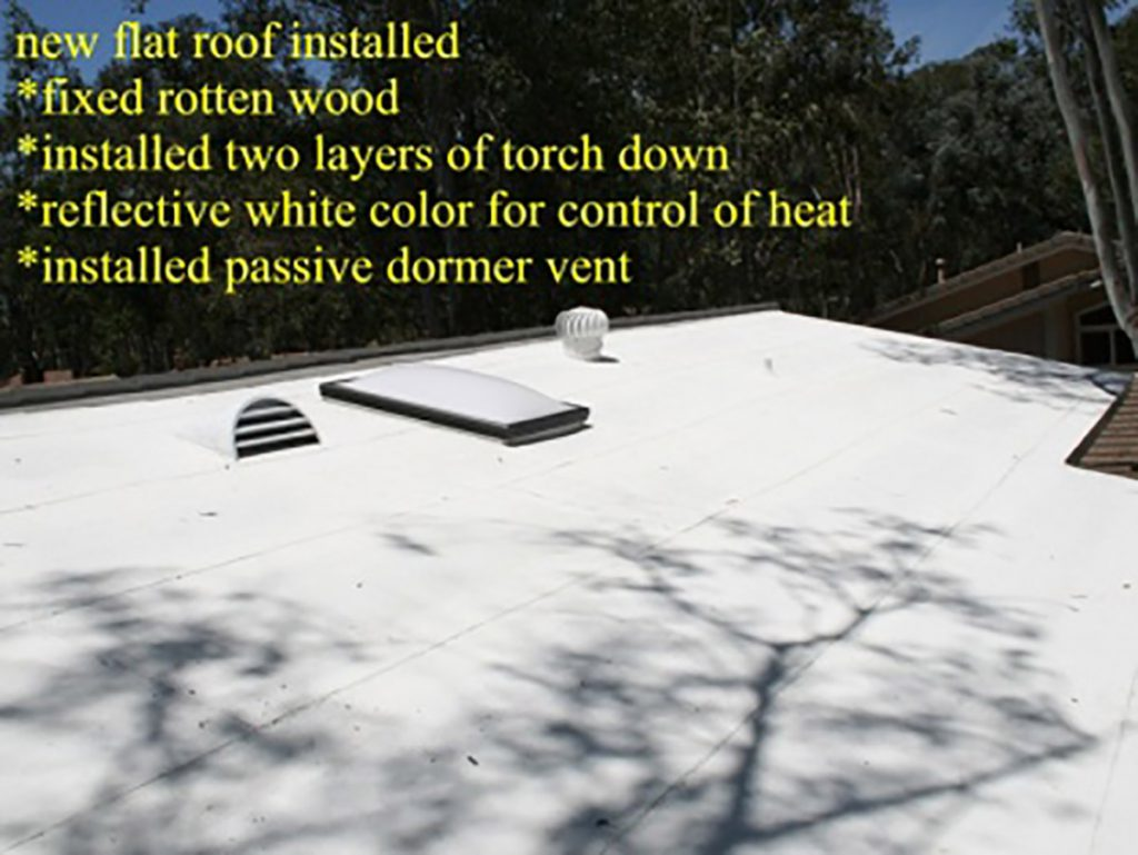 Flat roof installation in California