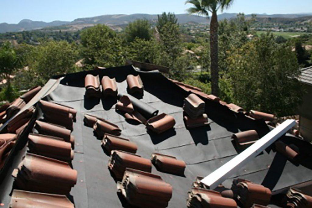 concrete tile roof underlayment replacement